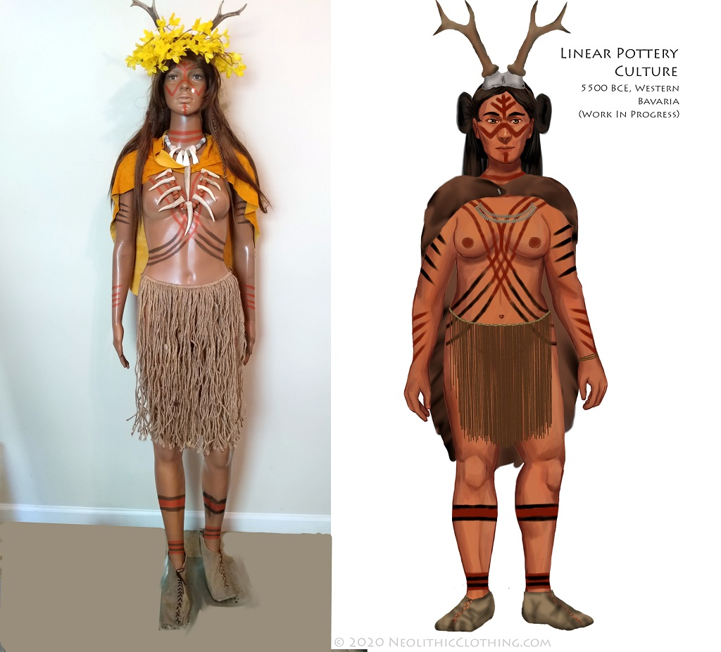 Example of Proposed Neolithic Outfit and Resulting Illustration